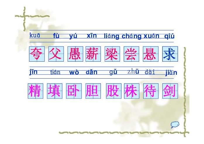 一年级语文知识结构图