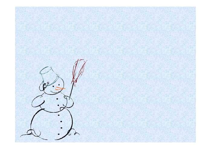 雪地里的小画家 ppt课件图片