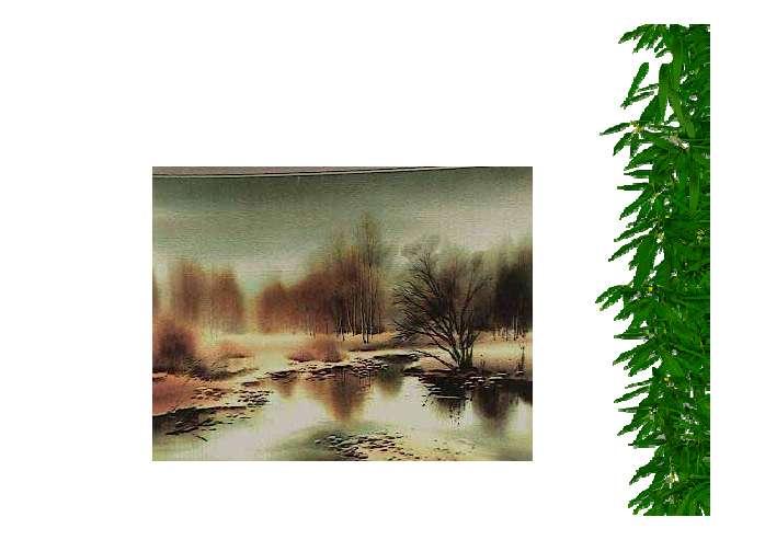 树叶落在地上, 树叶落在水里