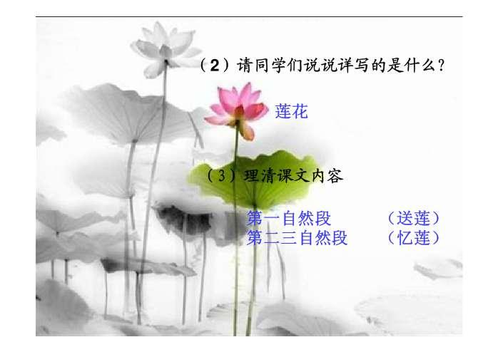 体会诗歌中深沉的母爱,并学会感恩. 点击下载课件   ppt图片图片